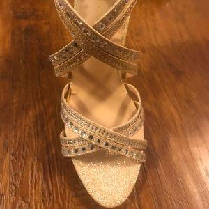 Glittery-Gold heels